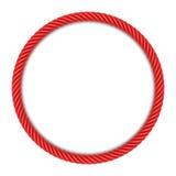 Красная рамка круглой веревочки бесплатная иллюстрация