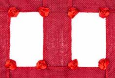 Красная рамка ленты белья стоковое изображение