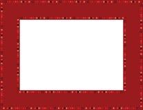 Красная рамка самоцвета Стоковое Изображение