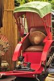 Красная рикша стоковая фотография