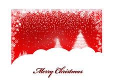 Красная рождественская открытка Стоковые Изображения RF