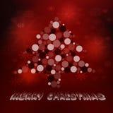 Красная рождественская открытка Иллюстрация вектора