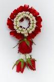Красная роза гирлянды Стоковая Фотография RF