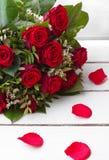Красная роза дня валентинки Стоковая Фотография
