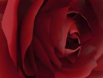 красная роза сигнала иллюстрации 3D Стоковые Изображения