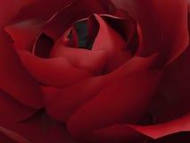 красная роза сигнала иллюстрации 3D Стоковые Фотографии RF