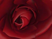 красная роза сигнала иллюстрации 3D Стоковое Фото