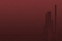 Красная роскошная металлическая стена Стоковое Изображение RF