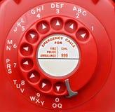 Красная роторная шкала телефона Стоковая Фотография