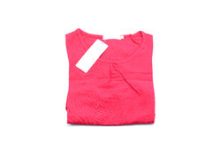 Красная рубашка изолированная на белой предпосылке Стоковое фото RF