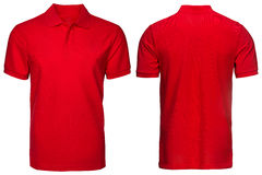 Красная рубашка поло, одежды Стоковая Фотография