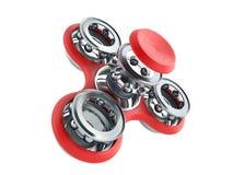 Красная рука Spiner 3d представляет на белой предпосылке Стоковые Изображения RF