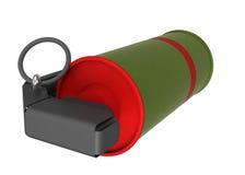 Красная ручная граната дыма Стоковая Фотография RF