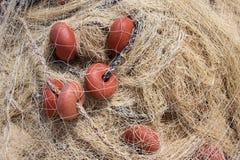Красная рыболовная сеть, оборудование fishermans Стоковое фото RF