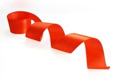 красная сатинировка тесемки Стоковые Изображения RF