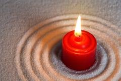 Красная свеча стоковое изображение rf
