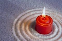 Красная свеча стоковые фотографии rf