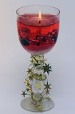 Красная свечка Кристмас стоковое фото rf