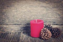 Красная свечка Кристмас Стоковая Фотография