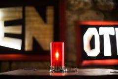 Красная свечка Стоковое Изображение
