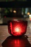 Красная свечка стоковые фотографии rf
