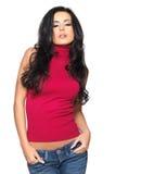 красная сексуальная рубашка Стоковое Изображение RF