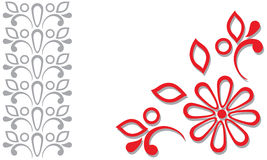 Красная серая орнаментальная рамка бесплатная иллюстрация