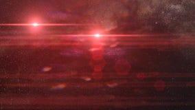 Красная система двойной звезды Стоковое Изображение RF