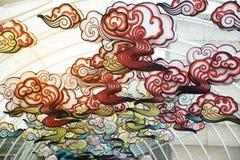 Красная смертная казнь через повешение китайского стиля фонарика лампы comp украшенная в китайском торжестве Нового Года Стоковая Фотография