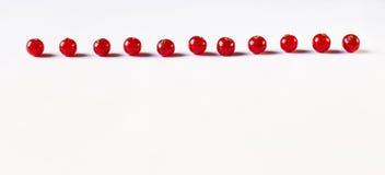 Красная смородина на белой предпосылке Стоковые Фото