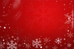 Красная снежинка рождества Стоковая Фотография