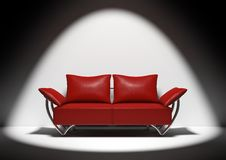 красная софа Стоковое Изображение RF