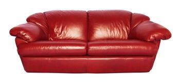 Красная софа Стоковое фото RF