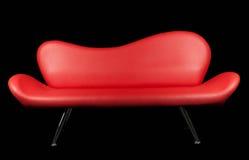 красная софа Стоковые Изображения RF