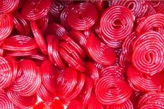 Красная солодка катит конфеты Стоковые Фото
