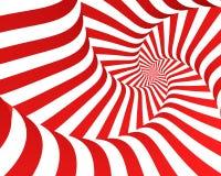 красная спиральн зебра Стоковая Фотография