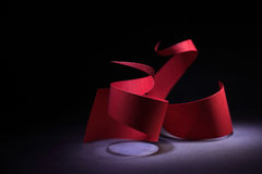 Красная спираль Стоковые Фото