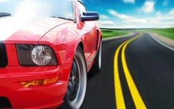 Красная спортивная машина Стоковое фото RF