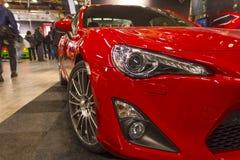 Красная спортивная машина Стоковое Изображение