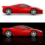 Красная спортивная машина Стоковая Фотография