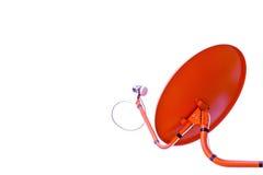 Красная спутниковая антенна-тарелка Стоковые Изображения