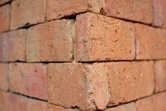 Красная стена блока Стоковые Изображения