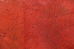 Красная стена царапает текстуру Стоковые Фото