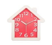 Красная стена часов Белого Дома изолированная на белизне Стоковые Изображения RF