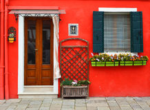красная стена Стоковое фото RF