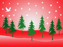 красная страна чудес зимы места Стоковое Изображение RF