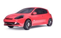 Красная студия автомобиля Стоковое Изображение RF