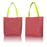 Красная сумка ткани покупок Стоковые Изображения RF