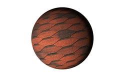 Красная сфера плиток 3D стоковая фотография