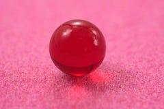 красная сфера прозрачная Стоковое Фото